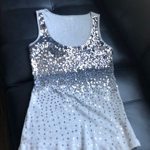 Express Sequin Tank, M. Like New